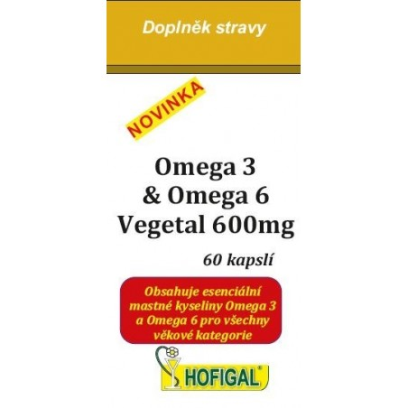 OMEGA-3 & OMEGA-6 VEGETAL 600 mg